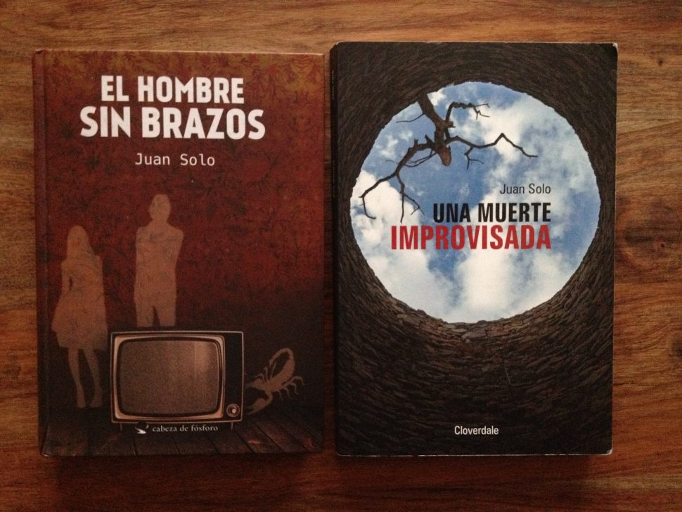JUAN SOLO EN FERIA DEL LIBRO - FERIA DEL LIBRO - UNA MUERTE IMPROVISADA - EL HOMBRE SIN BRAZOS - LEEME LIBROS - VAUGHAN - JUAN SOLO
