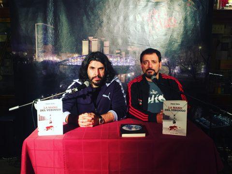 Juan Solo y JJ Vaquero en El rincón del erizo - Valladolid - Presentación La mano del verdugo - Juan Solo - JJ Vaquero - Comando Pucela