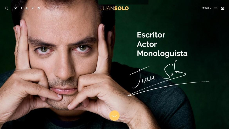 Portada de www.juansolo.es nueva Web de Juan Solo
