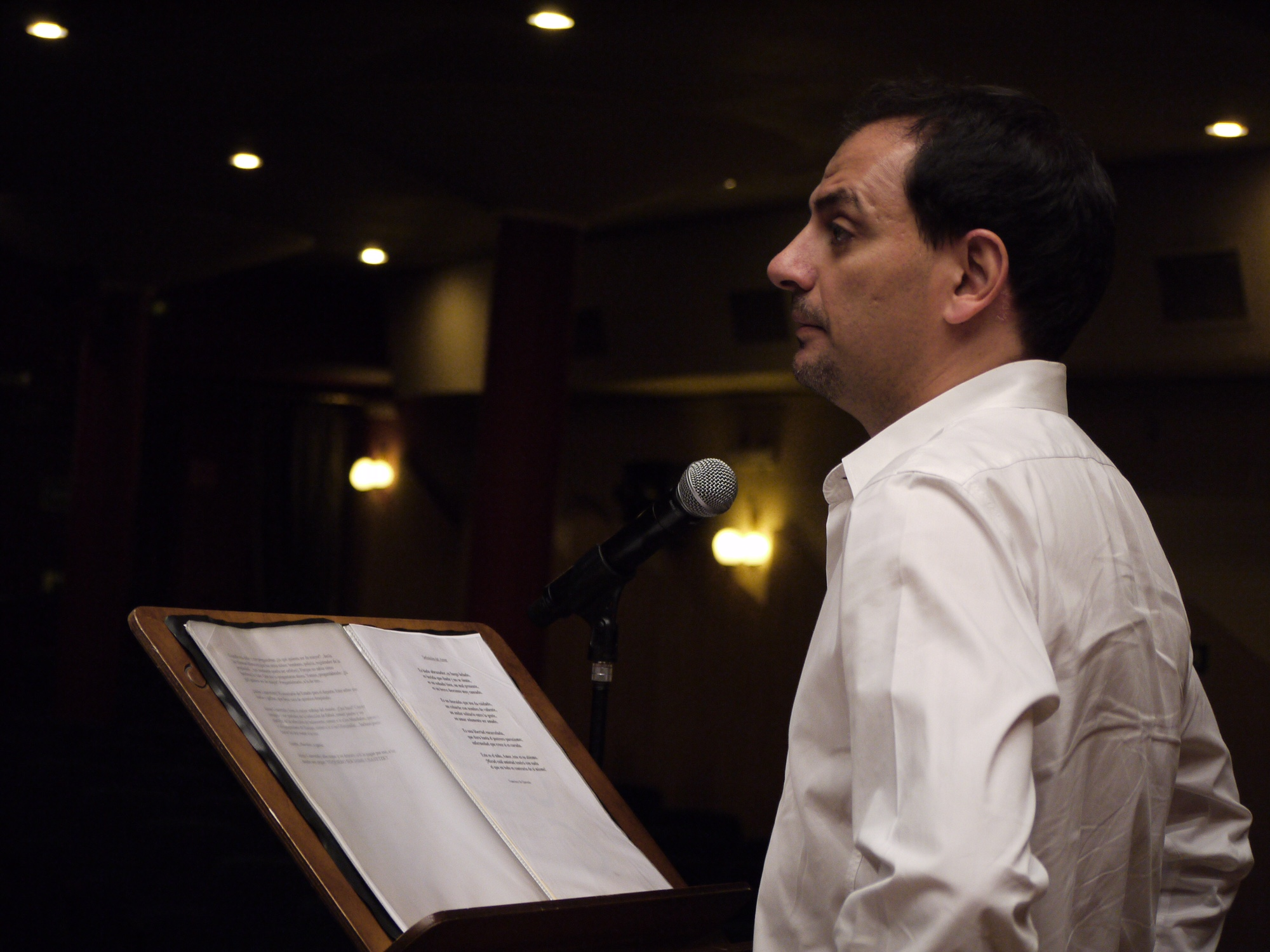 Juan Solo con Richard Vaughan en concierto