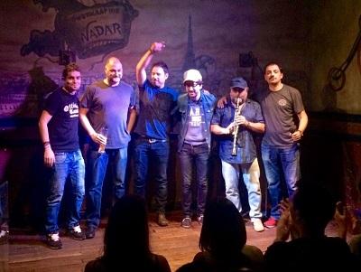 Comikazes - Álex Clavero - Salomón - Iñaki Urrutia - Nacho García - Flipy - Alfredo Díaz y su clarinete - Juan Solo - JJ Vaquero - Don Mauro - en Beer Station