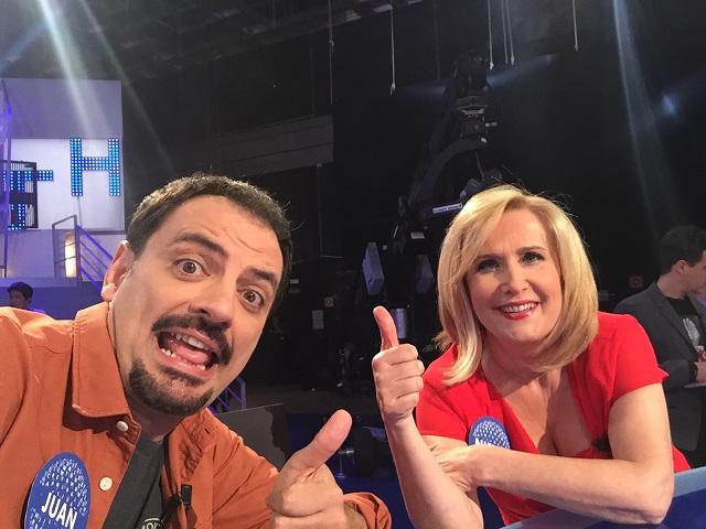 Selfie con Nieves Herrero en Pasapalabra - Presentado por Christian Gálvez en Telecinco