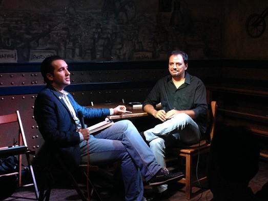 Presentación de Una muerte improvisada en Madrid con Miguel Lago - Beer Station - Miguel Lago y Ángel Árias Urrutia - Miguel Lago - Una muerte improvisada – Juan Solo – Juan Solo escritor – Novela negra – juansolo.es – #JuanSolo - Vaughan