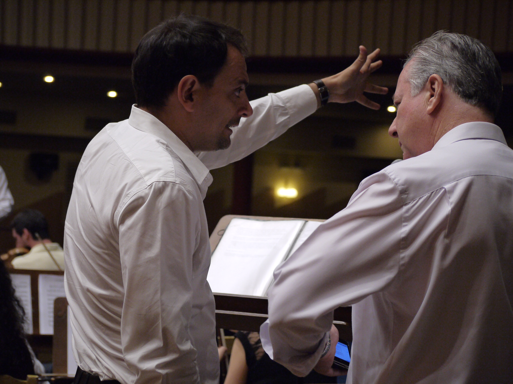 Juan Solo con Richard Vaughan