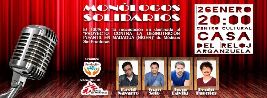 Veinte niños más - Monólogos solidarios - Médicos Sin Fronteras - Fundación Toda Ayuda - Juan Solo
