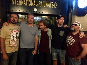 Comikazes en Beer Station, en el comienzo de la 3ª temporada - Juan Solo - Don Mauro - Alfredo Díaz - Paco Calavera - Iñaki Urrutia
