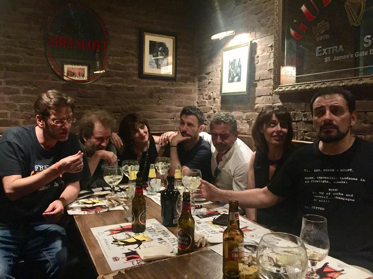 Comikazes - Don Mauro - Iñaki Urrutia - Juan Solo - Diego Peña recién llegado de Zaragoza - Luis Álvaro - Dan Feist - Beer Station - Banzai