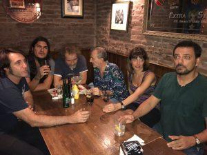 A la celebración del fin de la 3ª termporada de los Comikazes se apuntó Alberto Marín, bajista de Def Com Dos - Beer Station - Comikazes - Don Mauro - Marcos Mas - Albert Boira y Juan Solo
