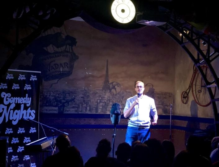 Diego Arjona con los Comikazes - Beer Station - Cuarta temporada de Comikazes