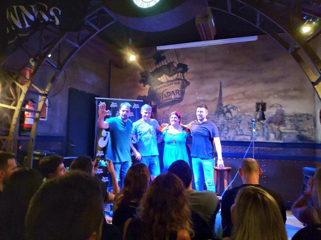 Coria Castillo - Juan Aroca . Iñaki Urrutia y Juan Solo en Beer Station - Comikazes - Cuarta temporada de Comikazes