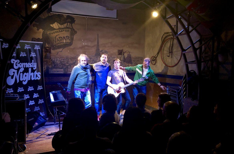 Marcos Mas y Karim con los Comikazes Don Mauro y Juan Solo en Beer Station - Comikazes