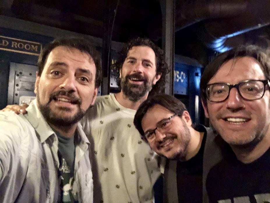 Raúl Massana con Tappy y David Navarro en Beer Station con los Comikazes y Juan Solo