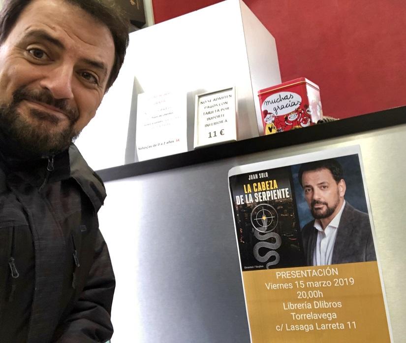 Torrelavega o... sentirte como en casa - Presentación de La cabeza de la serpiente en Torrelavega - Librería Dlibros - Juan Solo - Novela negra