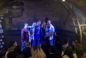 Comikazes - Karim - Richard Salamanca y Tappy con los Comikazes Juan Solo e Iñaki Urrutia en Beer Station